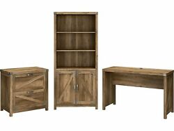 Kathy Ireland Home By Bush Furniture Cottage Grove 48 Writing Desk With Cabinet