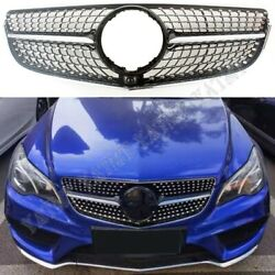 Front Racing Facelift Grilles For Mercedes-benz W207 E-coupe 2014-2016 Dia Blk