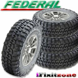 4 Federal Couragia M/t 35x12.50r18lt 123q Mud Tires, 10 Ply, Load E, Truck, New