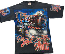 Vtg Dale Earnhardt The Quest The Spirit Within All Over Print T-shirt Medium M