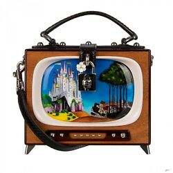 Dolce And Gabbana Retro Tv Fairytale Hand Painted Wood Dolce Box Bag Brown 09592