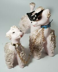 Spaghetti Poodle Dog Vintage 5 1/2 Figurine With Glasses Japan And Puppy