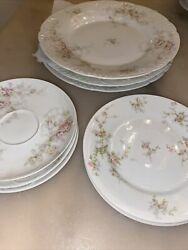 """10 Items Place Set Of Theodore Haviland France """"patent Applied For"""" Fine China"""