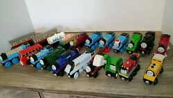 Thomas The Tank Engine And Friends Wooden Train Lot, Mighty Mac, Express Coach