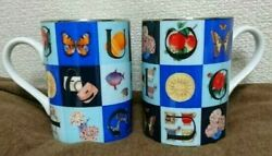 Old Pair Mugs Vintage Guccisimo Colorful Used