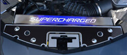 Acc Front Header Plate W/blue Led And039superchargedand039 Fits 16-20 Camaro-carbon Fiber