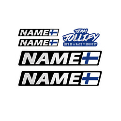 Custom Name Finland Flag Name 60cm Sticker Lorry Tractor Towing Vehicle Bus