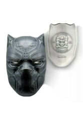 2021 2 Oz Silver 5 Fiji Black Panther Mask Marvel Icons Antique Coin.