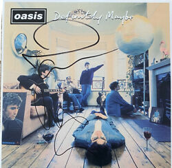 Signed Noel And Liam Gallagher Oasis Definitely Maybe Vinyl Album