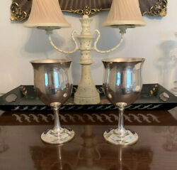 Reed And Barton Queen Elizabeth Sterling Silver 6 1/4 8 Oz Water Goblets