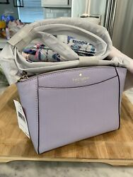 KATE SPADE Monica Pebbled Leather Crossbody Bag In Frozen Lilac $279 💜 $89.00