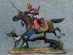 Turkish Rider Attacks With A Sword. Elite Tin Soldiers St. Petersburg. 54mm.