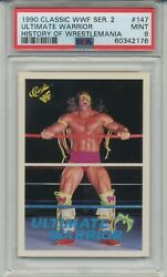 1990 Wwf Classic History Of Wrestlemania Ultimate Warrior Rookie Card 147 Psa 9