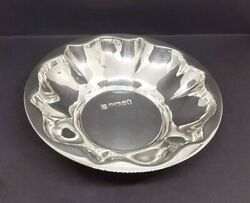 Solid Silver Yorkshire Rose Shape Sweet Mint Dish Cooper Brothers Sheffield 1977