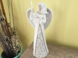 """Lenox Angel With Star Figure 11.5"""" - American By Design - Mint - Rare Detailed"""