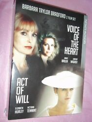 Barbara Taylor Bradford's Act Of Will And Voice Of The Heart Dvd Set Euc