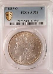 1887 O Morgan Silver Dollar, Au 58, Pcgs Certified With Gold Shield In 2021,