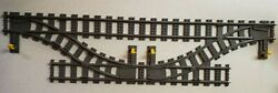 Lego City Train Double Crossover Switch Track Custom, Keeps Track 3 Apart