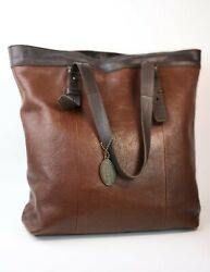 Stylish Womens Handbag Genuine Leather Large Fossil Leather Tote Brown Purse