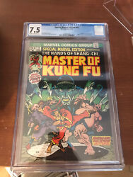 Cgc 7.5 Special Marvel Edition 15 Master Of Kung Fu 1st App Shang-chi