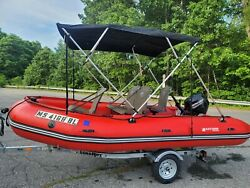 Inflatable Boat With 2018 Mercury 20hp Mercury Outboard.