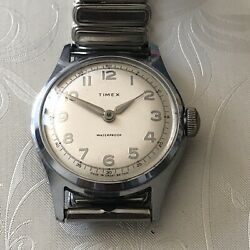 Vintage 1950s Timex Marlin Manual Wind Wrist Watch In Full Working Condition