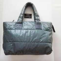 Cocococoon Mm Nylon Quilt Women And039s Grey Coco Mark Tote Bag _71566