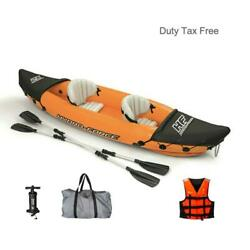 2 Person Inflatable Kayak Fishing Boat Portable Water Sport With Paddle Pump And B