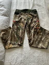 Under Armour Realtree Womens Green Camo Size 6 Hunting All Season Gear Pants