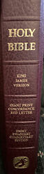 Vtg Jimmy Swaggart Holy Bible Commentary Edition Giant Print King James Version