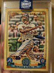2020 Topps Archives Ronald Acuna Jr Auto Gypsy Queen 1 Of 1
