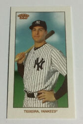 2021 Topps T206 Mark Teixeira Wave 1 Missing Black Plate Card Sp Yankees