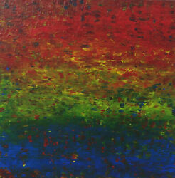 Original Painting 20 X 20 Carnival 1 Contemporary Abstract Acrylic