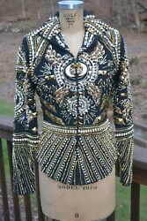 Showtime Show Clothing Western Pleasure Black And Gold Jacket