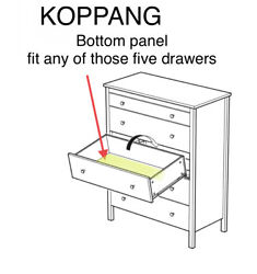 1 X Ikea Bottom Drawers Panel For Koppang Chest Replacement Part
