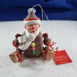 Dept Department 56 Sugar And Spice Gingerbread Large Movable Christmas Ornament