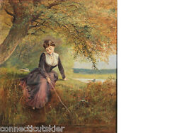 Daydreaming By Englishman George Parsons Normanoil Paintinggenrelandscape