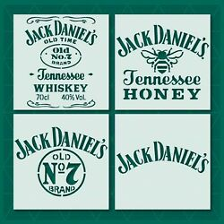Jack Daniels Stencil - Reusable And Durable - 10 Mil Plastic Tennessee Whiskey