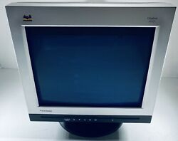 Viewsonic Ultra Bright A90f+ 19andrdquo Crt Perfect Flat Monitor Vintage Gaming