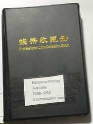 Coins Australia Book - One Penny Roos 1938-1964 Incomplete See Description