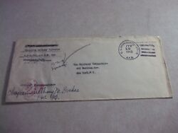Aitutaki Cook Islands Us Apo721 Army Base Wwii Stamp Less Official Cover To Usa