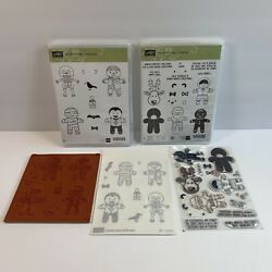 Stampin Up Cookie-cutter Christmas And Halloween Stamp Set Bundle - 2 Sets