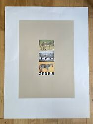 Peter Blake Z Is For Zebra Limited Edition Signed Large Screen Print