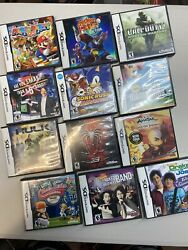 Vintage Nintendo Ds Games Lot Of 12 Spider Man Mario Bros Sonic Call Of Duty