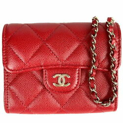 Mini Chain Wallet A81465 Red Women 's Secondhand _75343