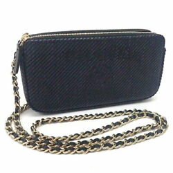 Fasteners Chain Wallet Deauville A81978 Navy Go _75332