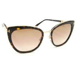 Tom Ford Sunglasses Tf717 Brown Marble Clear Secondhand Eyewear Glasses D _53005