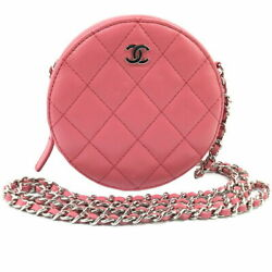 Chain Shoulder Back A70657 Pink Silver Fittings Women 's Bag Secon _73192