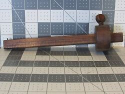 Antique Wood Mortise Layout Marking Scribe Measuring Woodworking Tool 19th Cent.