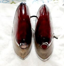 1954 Cadillac Tail Light Assembly Pair Genuine Guide R5-54 Used 60